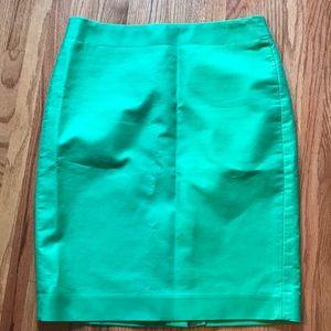 J. Crew No. 2 Pencil Skirt.  Kelly Green.  Size 4